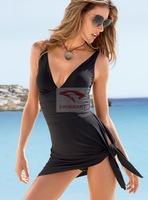 Fashion sexy one-piece swimwear New 2014 women's swimsuit dress plus size Bikini Swimwear One-Piece Women Beachwear 6colors