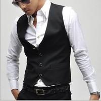 New 2014 hot Free Shipping Fashion Men's Suit Vest Top Slim & Fit Luxury business suit Vest