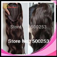 Sunnymay #4 brown fashion loose wave virgin peruvian human hair ponytail