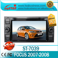 In-dash screen Car dvd player for  FORD Focus 2007-2008 with dual zone /PIP /GPS/BT/Radio/IPOD/3G/SWC