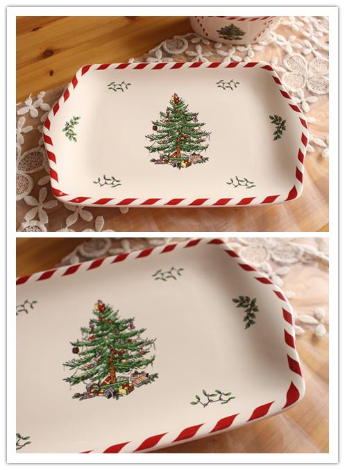Rectangle Cake Decoration Ideas : Christmas-ceramic-plate-rectangular-cake-pan-fruit-plate-dining-table-decoration-plate.jpg