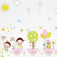 Butterfly music double faced wall stickers child real am
