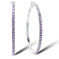 Big earrings female fashion accessories full rhinestone diamond circle earrings long design crystal in ear  Free shipping