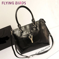 FLYING BIRDS! new arrive Rivet big European and American Shoulder Messenger bag Y-hand women handbags  LS1191