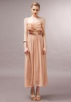 hot!  Korean version of the elegant resort - level big fashion flounced chiffon dress women dress skirt,free shipping