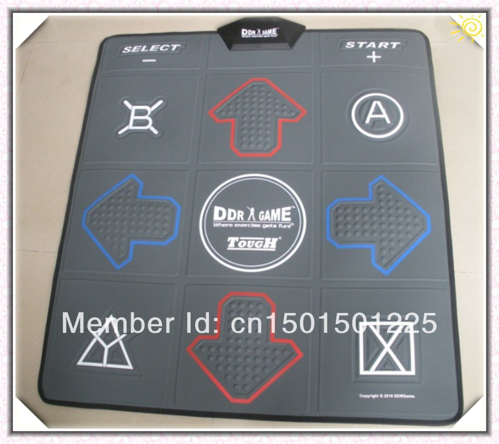 NEW DDR mat English dance mat TV& USB dancing step dance carpet game 2 in 1 2GB memory card(China (Mainland))