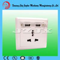 Newest arrival !  Wall power socket , dual USB wall socket panel, multifunctional  iphone/ ipad  phone charger, wall plug
