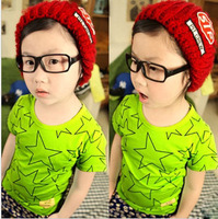 Fashion children short t shirts	for boy and girl summer wholesale retail with free shipping