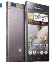 silver luxury hot selling 5.5 Inch Intel Atom Z2580 Android 4.2 Lenovo k900 Black Mobile Phone
