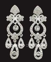 Factory price!! 3pair/lot New rhinestone bridal earrings