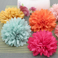 8cm Wide Handmade Flowers Applique Hair Clip Embellishment DIY Craft - Free Shipping