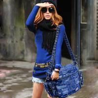 Bags for Women's  Denim Cross-body Bags Women's  Handbag  Shoulder Bag Female Messenger Bag