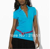 Free shipping usa Women shirts Tops for women Blouse Polo tshirts women New 2014 HCOriginal Quality Size :S-XL