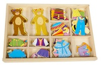 Hot Magnetic board wooden toys Winnie locker box stereo jigsaw puzzle toy Baby gift Free shipping to Russia