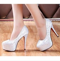 Korean princess style sexy waterproof thin and shallow mouth high-heeled shoes women Wedding shoes xx430