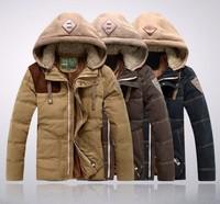 New Warm Men's 90% Duck Down Jacket Coat Outwear For men Winter Stand Collar Khaki,Coffe, Black Blue,M,L,XL,XXL,3XL Retail
