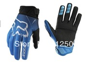 Free Shipping  BLUE GLOVE RODA MOTORCYCLE RACING GLOVE BICYCLE GLOVES SIZE M, L, XL