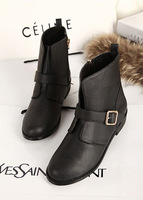 2013 spring and autumn boots platform flat boots fashion zipper fashion martin boots