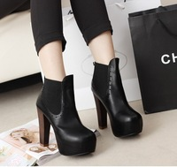 2013 women's winter shoes single shoes high-heeled shoes thick heel fashion street boots vintage ankle boots high-heeled shoes