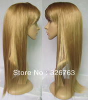 2013 Hot Sale Ladies' Wig Full Head Wig Straight Wigs Hair #K26TK15 Mixed Blonde Wig Synthetic Wigs for Women Free Shipping