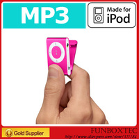 Free shipping! NEW MINI Clip MP3 Player 2GB with card slot Support 2GB-16GB Micro TF card in original box