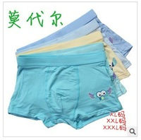 Free Shipping Young Boy Sexy Boxer briefs Kids Boxers Shorts Children Cartoon Modal Underwear Panties Underpants,5 pcs/lot