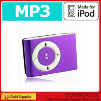 cheapest MINI Flash Gift clip 4GB MP3 Player with Clip control 8 color support 8GB Micro SD(TF) card slim mp3 players