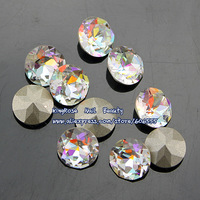 TA006 Nail art rhinestone 8mm round crystal stone for nail accessories jewelry 30pcs high quality sharp bottom free shipping