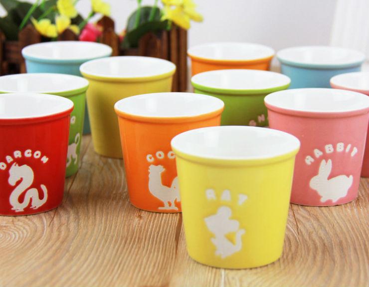 wholesale freeshipping A097 kinto animal cup cute mug the zodiac alliance ceramic cup,the zodiac cup(China (Mainland))