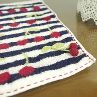 free shipping Yarn beautiful yarn dyed cherry small young girl romanticdoctrine facecloth towel handkerchief