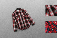 free shipping Fashion normic s045c1203 fashion autumn and winter thick plaid shirt Men