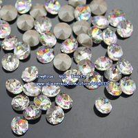 TA016 Nail art rhinestone clear 6mm crystal stone for nail accessories jewelry 30pcs high quality sharp bottom free shipping