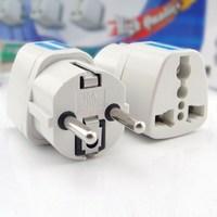 Travel AC Power EU Socket Plug Adapter  European standard DIN converter Germany France Russia South Korea Bali conversion socket