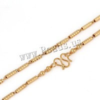 Free shipping!!!Brass Chain Necklace,Statement Jewelry, 18K gold plated, bar chain, nickel, lead & cadmium free, 3mm