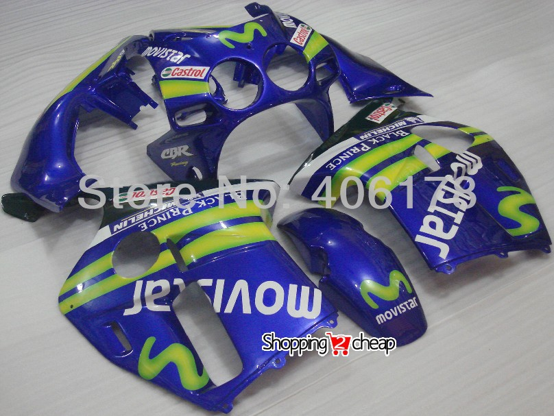 Free shipping,Moto kit fairing for Honda CBR 250RR CBR250RR MC19 1988 1989 98 99 Blue Motorcycle Fairing set (Injection molding)(China (Mainland))