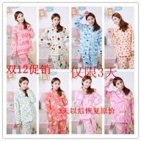 free shipping Set autumn and winter female sleep set coral fleece polar fleece fabric long sleeve length pants sleepwear thick