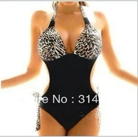 2014 new vs bikini bathing suits sexy low-cut halter split Halter piece swimsuit women beach seaside spa Free Delivery