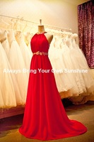 Free Shipping New Fashion girls Christmas dresses size 12 oneshoulder Evening Gowns with beads and crystals Country Prom dresses