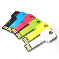 Free Shipping 64GB 32GB 16GB 8GB 128MB Creative Metal Key Model USB Flash 2.0 Memory Drive Stick Pen Drive