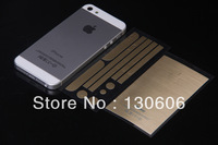 Free shipping 5S i4 i5 Tyrant gold foil gold foil Tyrant brushed gold foil matte soft membrane phones mobile phone stickers.