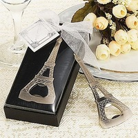 6PCS/LOT La Tour Eiffel Tower Chrome Bottle Opener Wedding favor party gifts for men