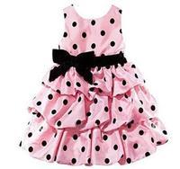NEW  2014 Sleeveless dress Children's dresses pink Polka Dot Girl's Dress Bowties one piece dress -LFF278A