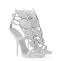 Brand fashion gold leaf anke wrap high heel sandals sexy designer women dress shoe summer girl pumps white/black