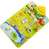 Scolour Kids Baby Farm Animal Musical Music Touch Play Singing Gym Carpet Mat Toy Gift  Free Shipping&Wholesales