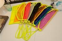 Lady Candy Color Envelope Bag Transparent Clutch Bag Transparent Jelly Shoulder Bag Messenger Bag