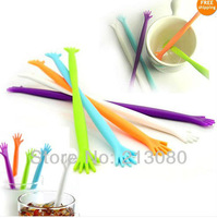 1 X Plastic Drink Coffee Wine Stirrer Party Cocktail Stir Stick   Free shipping (1pack= 5pcs)