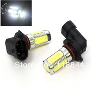 2x 7.5W LED White 9005 HB3 Super Bright Fog Lights Lamp Bulb Car White For Ford Toyota VW  Free Shipping