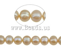 Free shipping!!!Round Cultured Freshwater Pearl Beads,Bulk Jewelry, natural, pink, 6-7mm, Hole:Approx 0.8mm