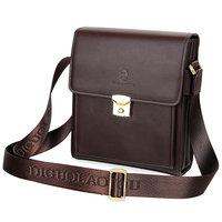 Crocodile man shoulder  messenger  genuine leather  male password lock  briefcase business bag