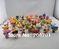 "20pcs / set 2.4"" Littlest Pet Shop LPS Animals Figures Toy (20 different pieces/lot) little pet figures"